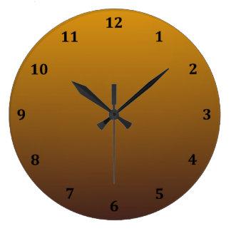 Oro picante Brown Ombre Reloj Redondo Grande