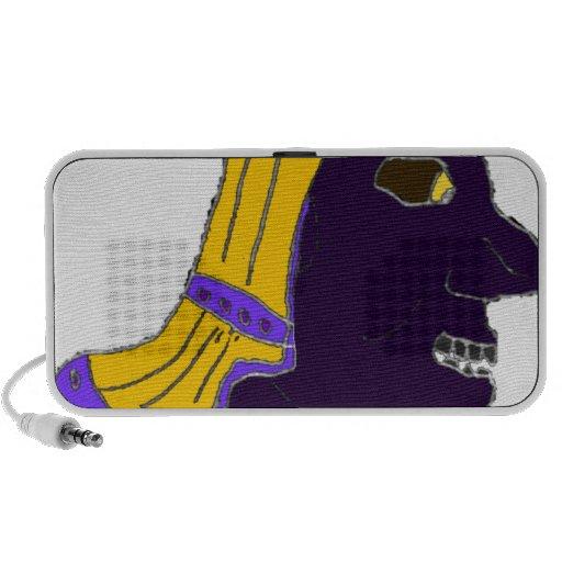 Oro principal espartano/púrpura/negro del logotipo altavoz