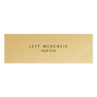 Oro profesional delgado llano creativo único tarjetas de visita mini
