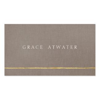 Oro profesional elegante y de color topo simples tarjetas de visita
