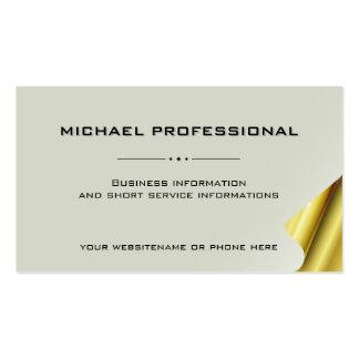 Oro profesional moderno de la caña de la tarjeta tarjetas de visita