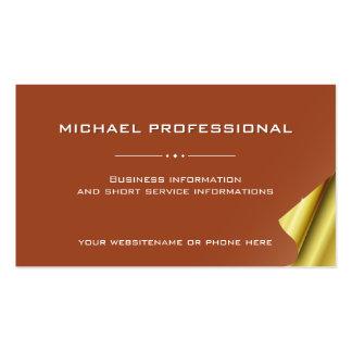 Oro profesional moderno del marrón de la tarjeta tarjetas de visita