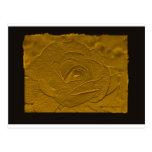 Oro profundo grabado en relieve subió postal