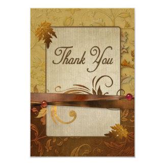 Oro pulido del otoño - gracias comunicados personales