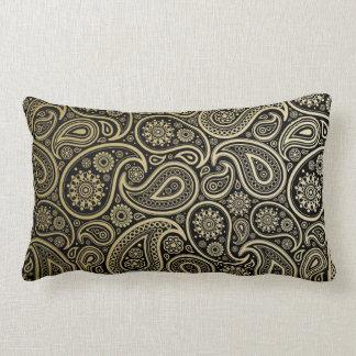 Oro pulimentado Paisley en la almohada lumbar