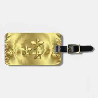 Oro puro etiqueta de equipaje