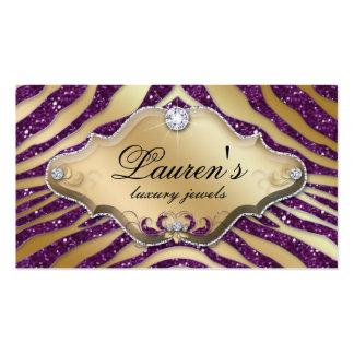 Oro púrpura 2 de la chispa de la tarjeta de visita