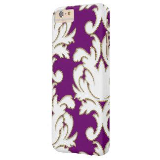 Oro púrpura y damasco blanco