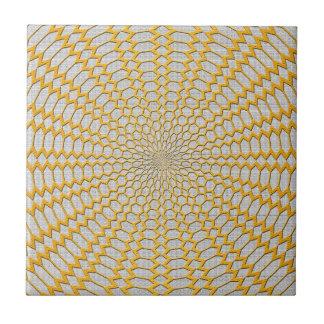 Oro que pesca diseño radial geométrico azulejos cerámicos