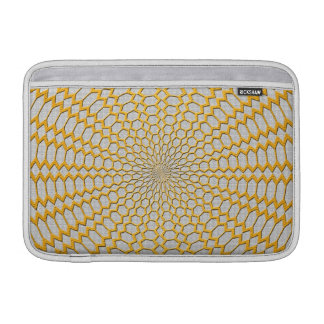 Oro que pesca diseño radial geométrico funda macbook air