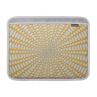 Oro que pesca diseño radial geométrico funda  MacBook