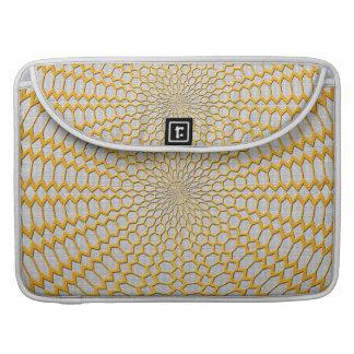 Oro que pesca diseño radial geométrico funda para macbook pro