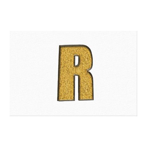 Oro R de Bling Impresión En Lona Estirada
