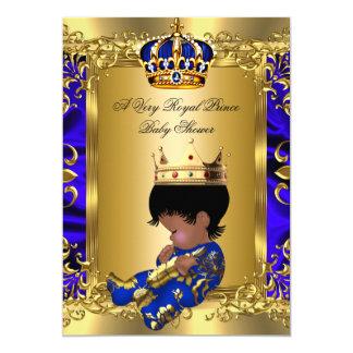 """Oro real real de la fiesta de bienvenida al bebé invitación 5"""" x 7"""""""