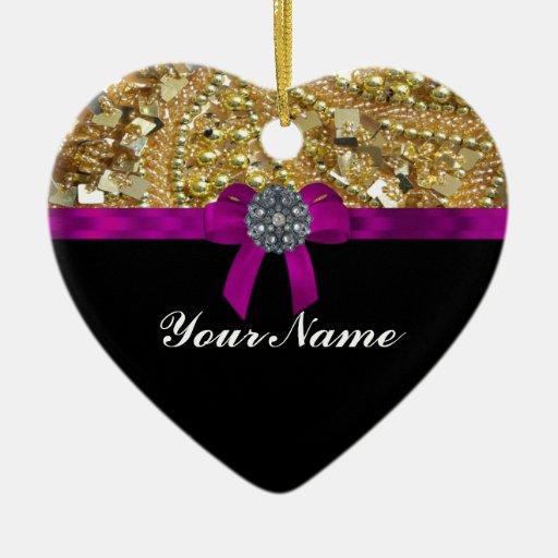 Oro reluciente y negro ornamente de reyes