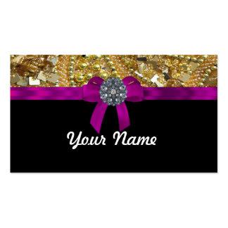 Oro reluciente y negro tarjetas de visita