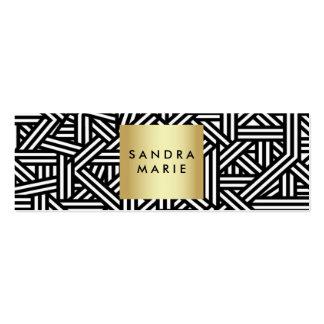 oro retro flaco de moda y tarjeta de visita negra