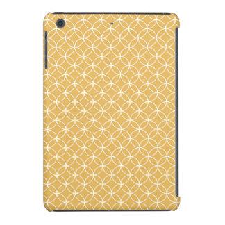 Oro retro, modelo de oro de los círculos fundas de iPad mini retina