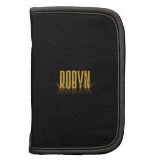 Oro retro personalizado de Robyn del cartel de Planificador