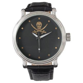 Oro Rogelio alegre Reloj De Mano