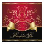 Oro rojo Bl de retiro de la invitación elegante