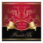 Oro rojo Bl de retiro de la invitación elegante de