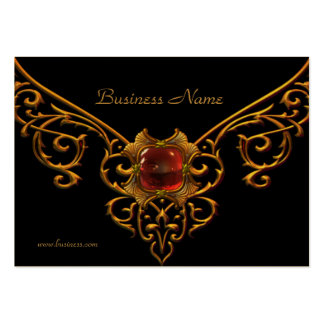 Oro rojo de la joya del terciopelo del negro del n plantillas de tarjetas de visita
