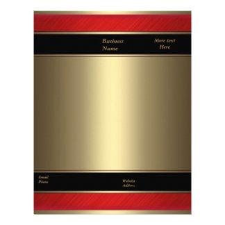 Oro rojo del bronce del metal del negocio del pape membrete personalizado