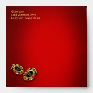 Oro rojo del personalizado el | del cuadrado del sobre