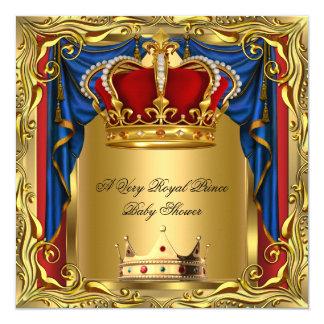 """Oro rojo real real 2 de la fiesta de bienvenida al invitación 5.25"""" x 5.25"""""""
