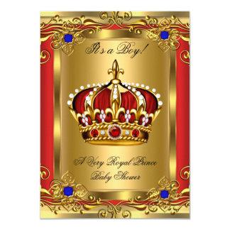 """Oro rojo real real 3 de la fiesta de bienvenida al invitación 4.5"""" x 6.25"""""""