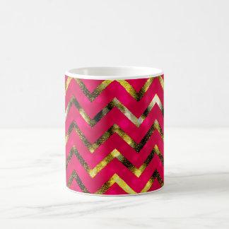 Oro rosado bling femenino del brillo el | taza clásica