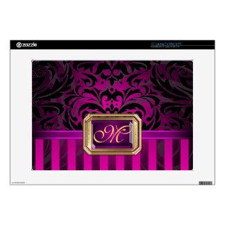 """Oro rosado lujoso 15"""" del damasco piel del ordenad calcomanías para portátiles"""
