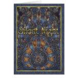 Oro silencioso de la noche tarjeta de felicitación