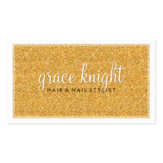 Oro simple moderno de los ricos del brillo de la tarjetas de visita