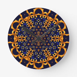 Oro snowflake.jpg del fractal relojes