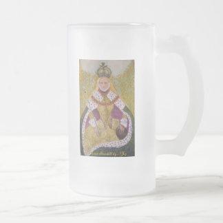 Oro soberano, reina Elizabeth por NJoy Taza De Cristal
