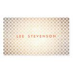 Oro sofisticado y texto blanco del naranja del mod plantilla de tarjeta personal