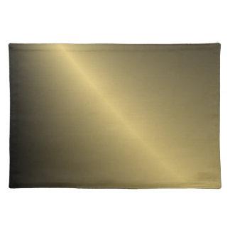 Oro sombreado manteles individuales