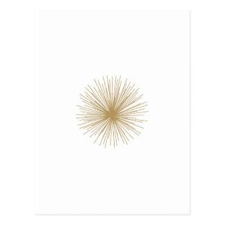 Oro Sputnik Starburst Tarjetas Postales