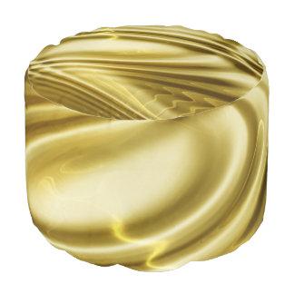 Oro suave de las ondas suaves + sus ideas puf redondo