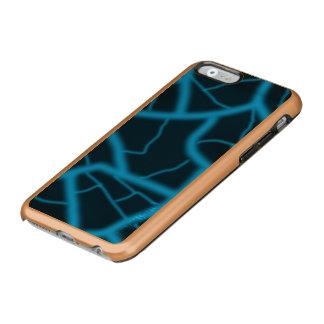 Oro subió aligeramiento azul funda para iPhone 6 plus incipio feather shine