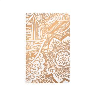 Oro subió Doodle dibujado mano bohemia femenino Cuaderno Grapado
