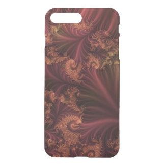 Oro subió otoño y arte abstracto del fractal de fundas para iPhone 7 plus