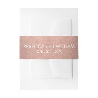Oro subió Z y habitación moderna de cobre del boda Cintas Para Invitaciones