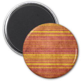 Oro sucio y subió rayado imán redondo 5 cm