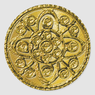 Oro texturizado afiligranado pegatina