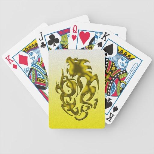 Oro torcido del dragón baraja cartas de poker