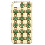 Oro tres e iPhone irlandés verde 5 de los tréboles