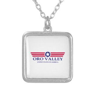 Oro Valley Pride Square Pendant Necklace